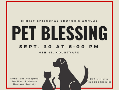 Annual Pet Blessing to be held Sept. 30