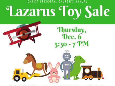 Lazarus Toy Sale for Families In Need