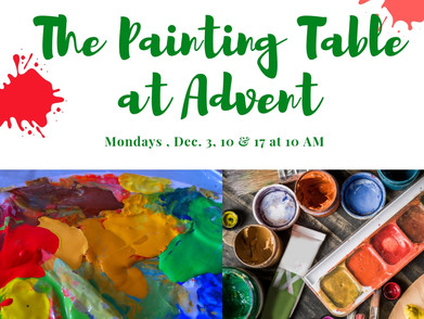Advent Reflection at The Painting Table