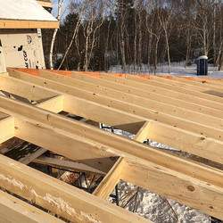 Getting the cathedral porch roof all fra