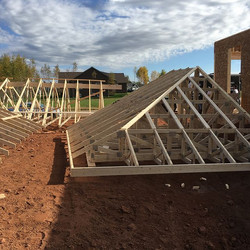 Roof is all built and awaiting the crane