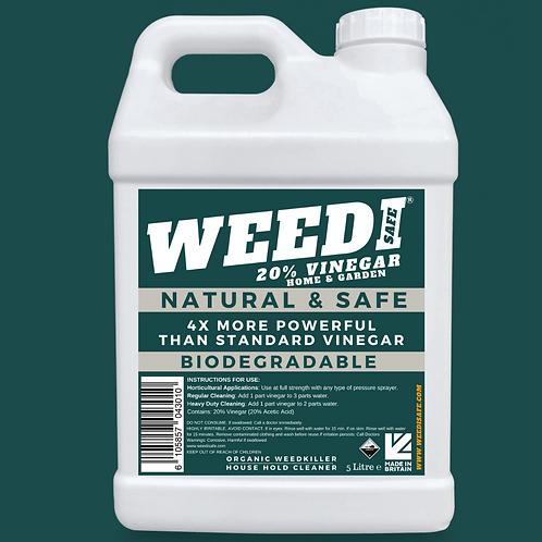 Organic Weedi Safe 20% Horticultural Vinegar Weed Killer (5 Litre)