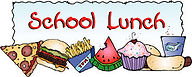 Clipart saying school lunch
