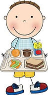 Clipart of boy with lunch