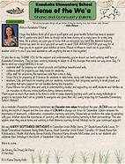 Sept. Keaukaha School Newsletter