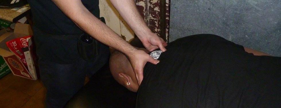 Massaging at Melbourne City Wrestling: Bad Luck Fale