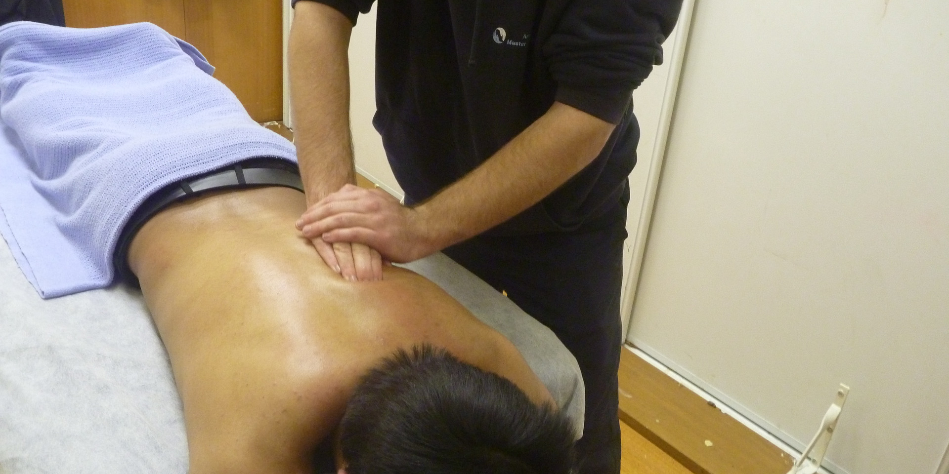 Massaging at Melbourne City Wrestling: Edwin (MCW Referee)