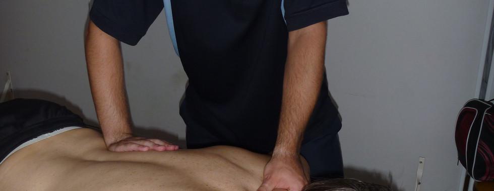 Massaging at Melbourne City Wrestling: Adam Brooks
