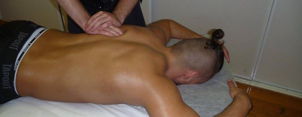 Massaging at Melbourne City Wrestling: Marty Scrull