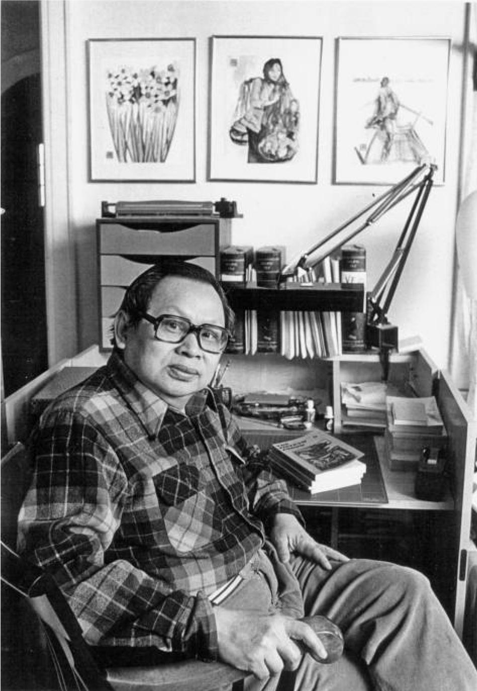 Huỳnh Sanh Thông in his study