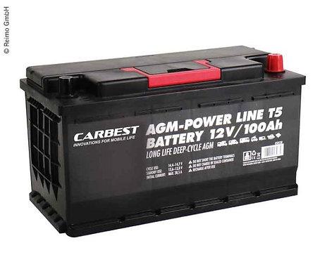 AGM Batterie 100Ah 353x175x190mm für T5 Carbest