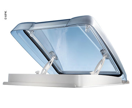 Dachhaube VisionStar M pro 40x40cm weiß m.LED,Rauchglas, Doppelplissee