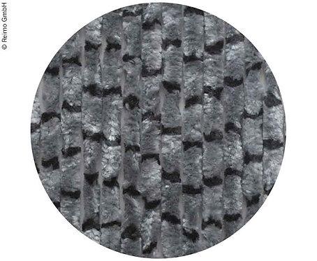 Flauschvorhang 56x185 Grau/schwarz-für Caravantüren