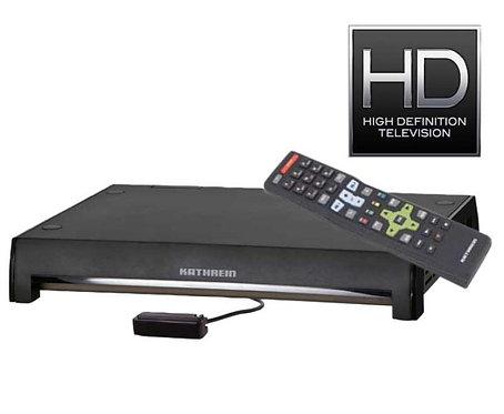 Ultra-kompakter DVB-T-receiver mit Scart- und USB-Anschluß sowie Fernbedienung