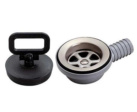 Ablaufgarnitur für Spülbecken gewinkelt Ø25/20mm