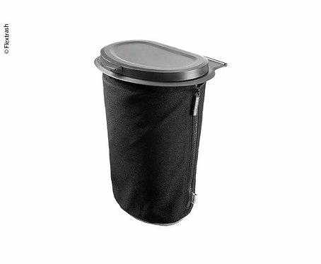 Flextrash Mülleimer, 5L, schwarz, biologisch abbaubares Material