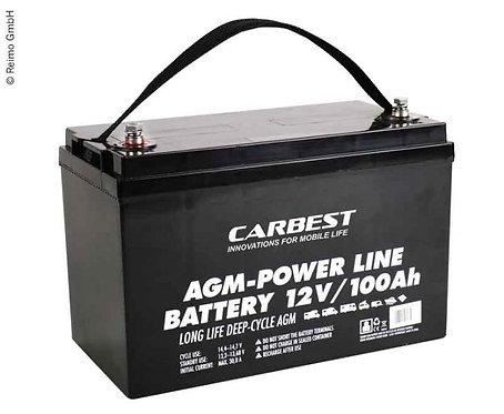 AGM Batterie 100Ah Carbest 330x171x220mm
