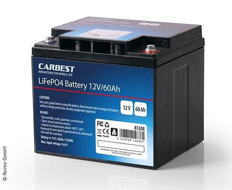 Carbest Lithium-Eisen-Phosphat Batterie (LiFePo4), 60Ah