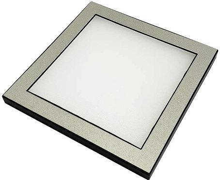 LED-Flächenleuchte 12V, Aufbau, Rahmen silber, 100x100x7mm