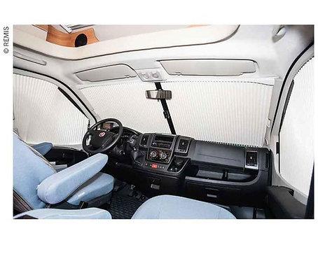 Frontscheibenrollo REMIfront Ford Transit Custom ab 2012,Sichtpaket 3,grau