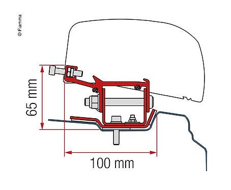 Adapter Kit für F40van Renault Trafic ab 2014 L1,2H.Black,f.LL&RL