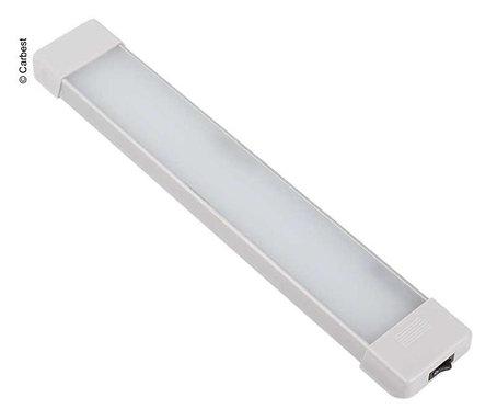 12V LED Leuchte mit Ein/Aus Schalter, Länge: 370mm, 54 LEDs, Alu