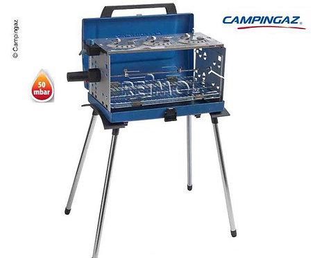 Gasgrill, transportabel, 3-flammig, mit Grillmotor, 50mbar