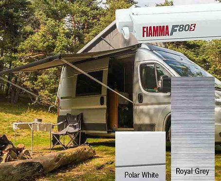 Fiamma F80S Dachmarkise 3,7m, Royal Grey für Vans und Wohnmobile