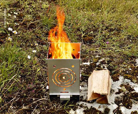 Feuerstelle 200, 200x200x360mm, VA-Edelstahl, auch zum Koche