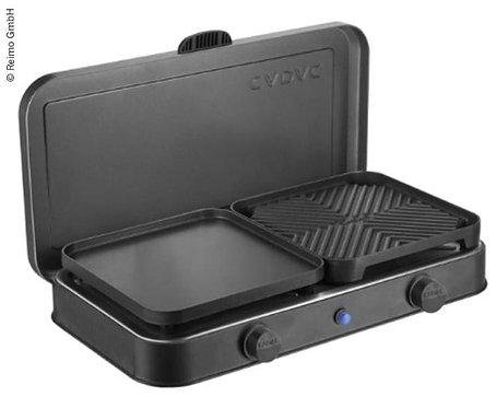 2-Cook Pro Deluxe 2-Flamm-Kocher/Grill 50mbar, Piezo, 2 Grillplatten