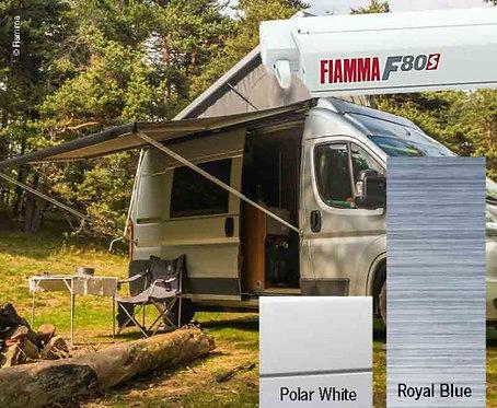 Fiamma F80S Dachmarkise 3,2m Royal Blue, Gehäuse weiß für Vans und Wohnmobile