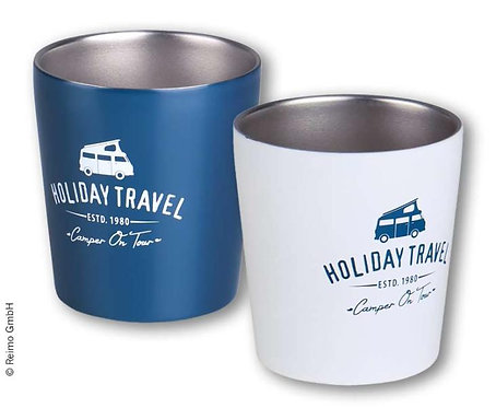 Edelstahl Kaffeebecher 0,3l, HOLIDAY TRAVEL, 2er Set