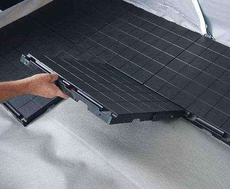 Ikafloor Vorzelt-Bodenbelag Grundelement 50x50x3,5 schwar