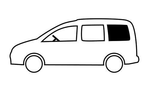 Fenster VW Caddy Maxi hinten links, kR, 1044x545mm, starr