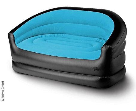 Aufblasbares Sofa RELAX DOUBLE, 145x78x65cm, schwarz/eisblau