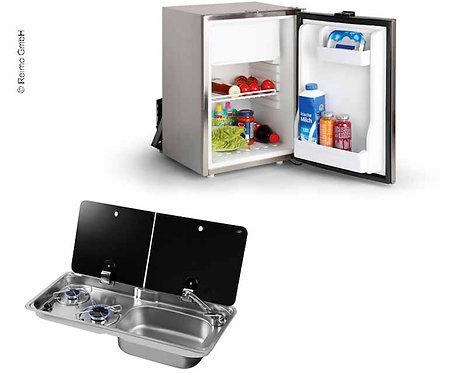 Campingbus-Set 50 KC - Kocher-Spülen-Kombination & Einbaukühlschrank