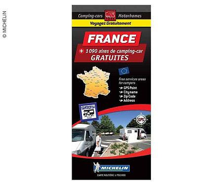 Michelin Stellplatzkarte kostenlose Stellplätze in Frankreich
