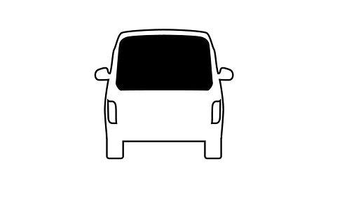Carbest starres Heckfenster für VW Caddy Maxi, BJ. 2015-2020