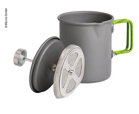 FrenchPress 2-in-1 Wasserkocher+Kaffeebereiter in einem, Aluminium
