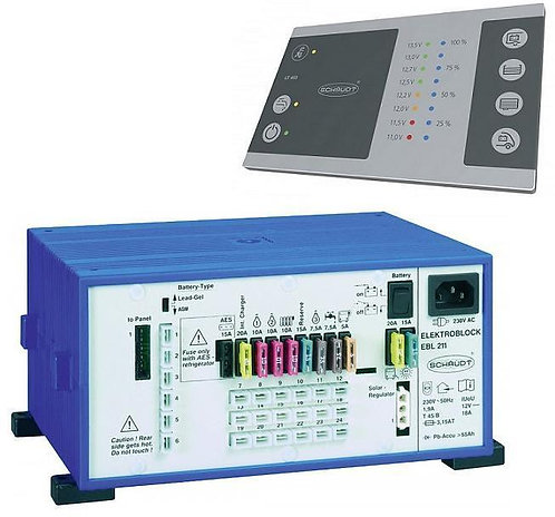 Energiezentrale EBL 211 mit Anzeigepanel LT453 für AGM-Batterien