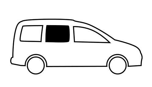 Fenster VW Caddy Maxi, vorne rechts, kR, Echtglas 714x538mm