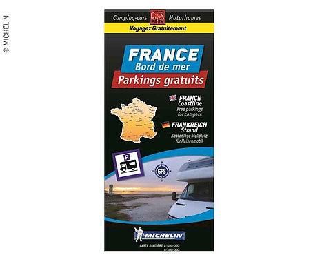 Michelin Stellplatzkarte kostenlose Stellplätze französische Küsten