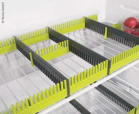 Purvario Stauleisten 8er-Pack, f.Kühlschrank(grau+lime)