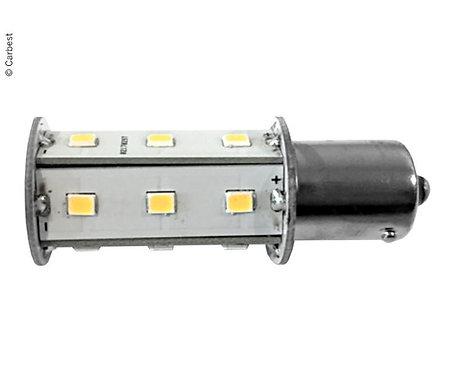 LED BA15S, 2,5W, 220 Lumen, 18 warmweiße SMD
