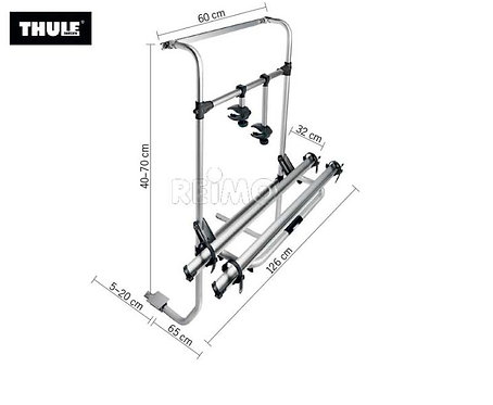 Alu-Heckträger Omni-Bike Sport G 2 Universal Caravan für 2 Räder
