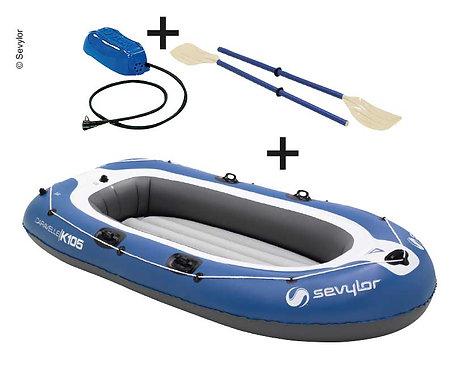Ruderboot CARAVELLE K105 blau für 3 Personen