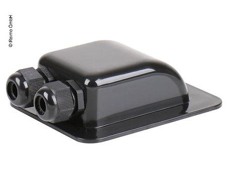 Carbest Kabeldurchführung schwarz, zweifach, PG13,5