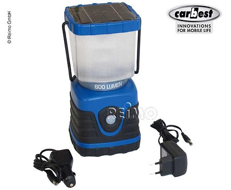 Campinglampe, Solar/USB/DC, 4000mAh Akku, 600 Lumen, 125x125x240mm