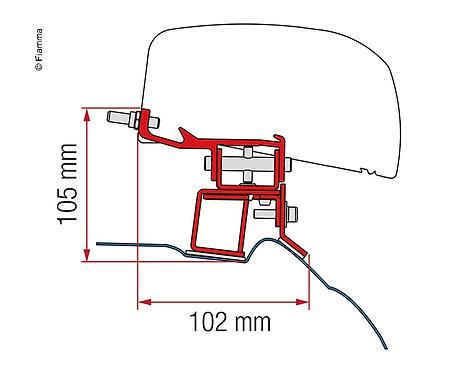 Adapter Kit für F40van Mercedes V Class ab 2014,2Halter, Black
