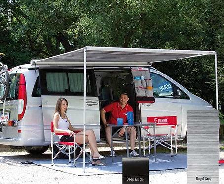 Fiamma Markise F35 PRO für Vans 270cm, Gehäuse Schwarz, Tuch Royal Grey